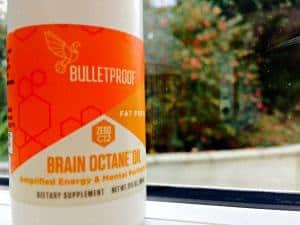 Small bottle of Brain Octane MCT Oil