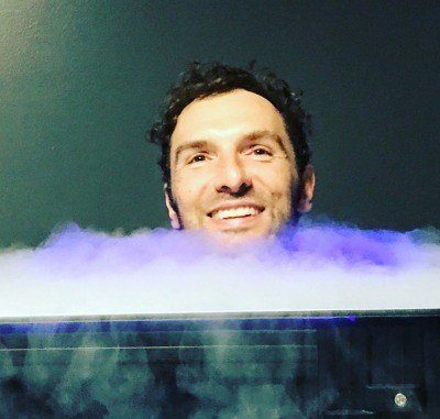 Bob Troia doing a biohacking experiment