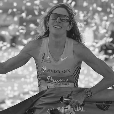 Camille Herron winning the Comrades Marathon in 2017