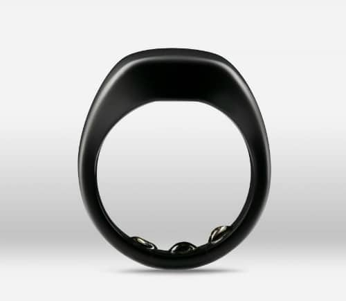 Oura ring version 1 matte black finish
