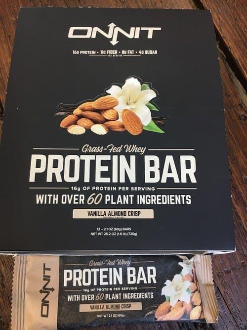 Onnit vanilla protein bars