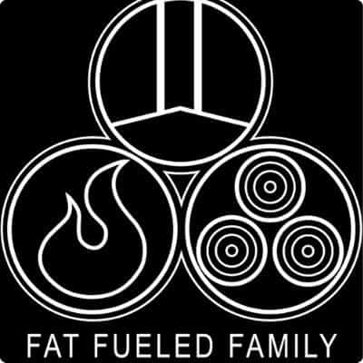 Fat fueled family podcast logo