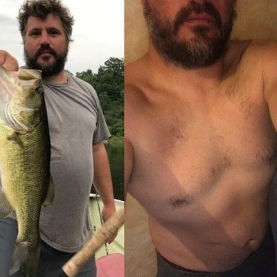Brad Marshalll's before and after weight loss results on the Croissant Diet