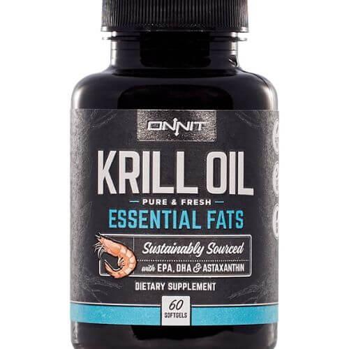 Bottle of Onnit Krill oil supplement