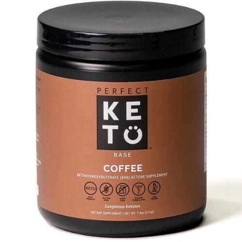Tub of Perfect Keto BHB ketone supplement powder
