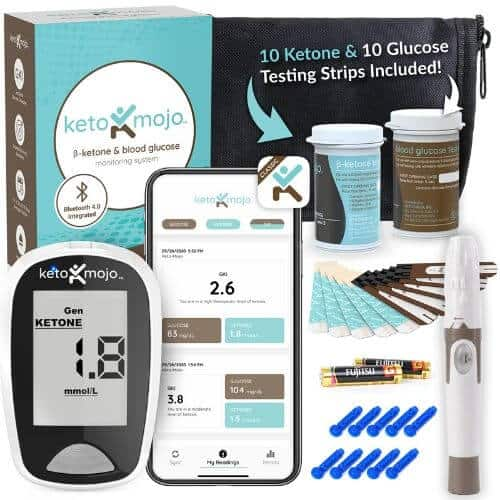 Keto-Mojo ketone and glucose monitoring system USA bundle kit