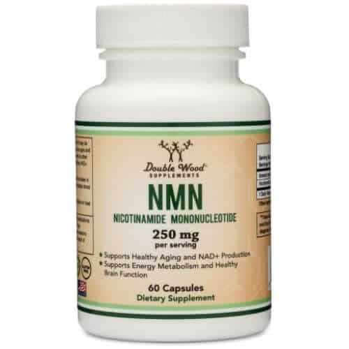 Bottle of Double Wood Supplements NMN capsules