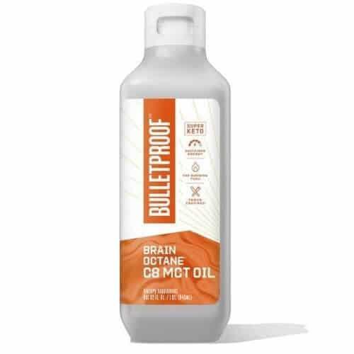 Bottle of Bulletproof Brain Octane C8 MCT oil