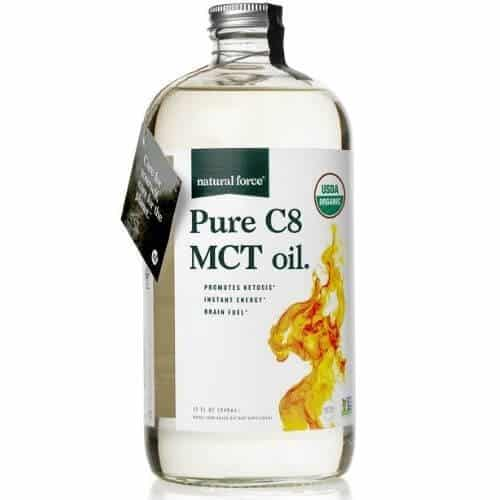 Bottle of Natural Force C8 Mct oil